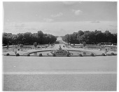 view [Versailles]: looking across the Latona fountain with the Apollo fountain in the far distance. digital asset: [Versailles] [glass negative]: looking across the Latona fountain with the Apollo fountain in the far distance.