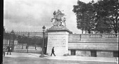 view [Tuileries Garden]: the west entrance of the Tuileries Garden, showing the statue of Renommée riding Pegasus, by Antoine Coysevox. digital asset: [Tuileries Garden] [negative]: the west entrance of the Tuileries Garden, showing the statue of Renommée riding Pegasus, by Antoine Coysevox.