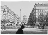 view [Miscellaneous Sites in France, Series 1]: the Pantheon seen from the Rue Soufflot in Paris. digital asset: [Miscellaneous Sites in France, Series 1] [glass negative]: the Pantheon seen from the Rue Soufflot in Paris.