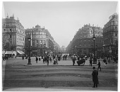 view [Miscellaneous Sites in France, Series 1]: the Place de l'Opéra in Paris. digital asset: [Miscellaneous Sites in France, Series 1] [glass negative] the Place de l'Opéra in Paris.