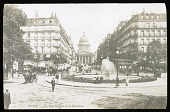 view [Miscellaneous Sites in France, Series 1]: La Rue Soufflot with the Panthéon in the background. digital asset: [Miscellaneous Sites in France, Series 1] [lantern slide]: La Rue Soufflot with the Panthéon in the background.
