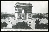 view [Miscellaneous Sites in France, Series 1]: view of the Arch of Triumph in Paris. digital asset: [Miscellaneous Sites in France, Series 1] [lantern slide]: view of the Arch of Triumph in Paris.