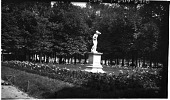 view [Miscellaneous Sites in France, Series 2]: an unidentified sculpture in an unidentified garden or park, probably in Paris. digital asset: [Miscellaneous Sites in France, Series 2] [negative]: an unidentified sculpture in an unidentified garden or park, probably in Paris.