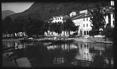 view [Miscellaneous Sites in the Italian Lakes]: an unidentified location, possibly the village of San Mamete on Lake Lugano. digital asset: [Miscellaneous Sites in the Italian Lakes] [negative]: an unidentified location, possibly the village of San Mamete on Lake Lugano.