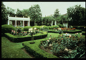 view [Strachan Garden]: tea house in the formal rose garden. digital asset: [Strachan Garden]: tea house in the formal rose garden.: 1987 October 1