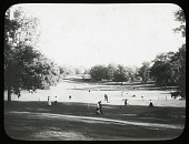 view [Franklin Park]: the tennis courts in Ellicott Dale. digital asset: [Franklin Park] [lantern slide]: the tennis courts in Ellicott Dale.