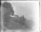 view [Unidentified Garden in Massachusetts, No. 1]: stone walls. digital asset: [Unidentified Garden in Massachusetts, No. 1]: stone walls.: [between 1920 and 1939]