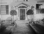 view [Pitman Place]: front walk and entrance to house. digital asset: [Pitman Place] [glass negative]: front walk and entrance to house.