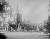 view [Mount Auburn Cemetery]: Story Chapel. digital asset: [Mount Auburn Cemetery] [glass negative]: Story Chapel.