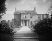 view [Mount Clare]: carriage front of house. digital asset: [Mount Clare] [glass negative]: carriage front of house.