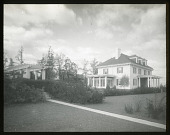 view [Roland Park]: a house on Goodwood Gardens, designed by architect Charles A. Platt. digital asset: [Roland Park] [lantern slide]: a house on Goodwood Gardens, designed by architect Charles A. Platt.