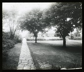 view [Edgewood (MD)]: a view across the garden toward the pergola. digital asset: [Edgewood (MD)] [lantern slide]: a view across the garden toward the pergola.