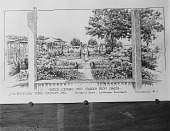 view [Marengo]: drawing of Thomas W. Sears' design, looking from the house into the garden. digital asset: [Marengo] [glass negative]: drawing of Thomas W. Sears' design, looking from the house into the garden.