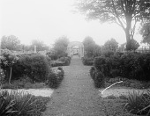 view [Marengo]: looking through the garden and its arbors toward the orchard. digital asset: [Marengo] [glass negative]: looking through the garden and its arbors toward the orchard.