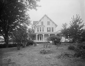 view [Marengo]: site of the new garden, before landscaping, with the house in the background. digital asset: [Marengo] [glass negative]: site of the new garden, before landscaping, with the house in the background.