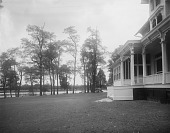 """view [Marengo]: """"water side"""" of the house, before landscaping. digital asset: [Marengo] [glass negative]: """"water side"""" of the house, before landscaping."""