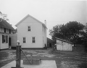 view [Marengo]: back of the house and service area, before landscaping. digital asset: [Marengo] [glass negative]: back of the house and service area, before landscaping.