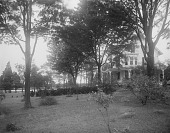 view [Marengo]: house and grounds before landscaping. digital asset: [Marengo] [glass negative]: house and grounds before landscaping.