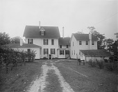 view [Marengo]: back of house and service area, before landscaping. digital asset: [Marengo] [glass negative]: back of house and service area, before landscaping.