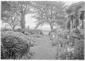 view [Marengo]: part of the garden in spring, looking toward the Miles River. digital asset: [Marengo] [glass negative]: part of the garden in spring, looking toward the Miles River.
