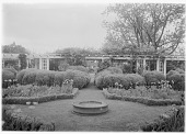 view [Marengo]: the pergola and garden in spring. digital asset: [Marengo] [glass negative]: the pergola and garden in spring.