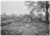 view [Marengo]: the garden in spring, showing the full realization of Sears' design. digital asset: [Marengo] [glass negative]: the garden in spring, showing the full realization of Sears' design.