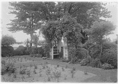 view [Marengo]: the rose garden and one of the arbors. digital asset: [Marengo] [glass negative]: the rose garden and one of the arbors.