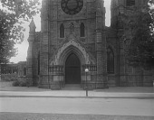 view [Jenkins Memorial Church]: front of the church on West Mt. Royal Avenue. digital asset: [Jenkins Memorial Church] [glass negative]: front of the church on West Mt. Royal Avenue.