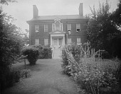 view [Ridout House]: the house and part of the garden. digital asset: [Ridout House] [glass negative]: the house and part of the garden.