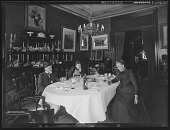 view [Tanglewood]: Doctor and Mrs. Liebig in the dining room with an unidentified woman. digital asset: [Tanglewood] [glass negative]: Doctor and Mrs. Liebig in the dining room with an unidentified woman.