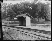 view [Catonsville Short Line]: Paradise Station, looking toward the G. Howard White house. digital asset: [Catonsville Short Line] [glass negative]: Paradise Station, looking toward the G. Howard White house.