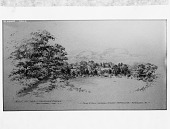 view [Llewellyn]: landscape sketch. digital asset: [Llewellyn] [glass negative]: landscape sketch.