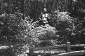view [Middlegate Japanese Gardens]: Bronze Warrior statue; Buddhist shrine. digital asset: [Middlegate Japanese Gardens]: Bronze Warrior statue; Buddhist shrine.: 1962.