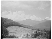 view [Miscellaneous Sites in New Hampshire, Series 1]: looking toward Mt. Adams and Mt. Madison in the White Mountains, with the entrance to the Mt. Washington Auto Road in the foreground. digital asset: [Miscellaneous Sites in New Hampshire, Series 1] [glass negative]: looking toward Mt. Adams and Mt. Madison in the White Mountains, with the entrance to the Mt. Washington Auto Road in the foreground.