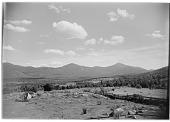 view [Miscellaneous Sites in New Hampshire, Series 1]: looking toward the Franconia Range of the White Mountains from an unidentified location near Bethlehem, New Hampshire. digital asset: [Miscellaneous Sites in New Hampshire, Series 1] [glass negative]: looking toward the Franconia Range of the White Mountains from an unidentified location near Bethlehem, New Hampshire.