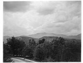 view [Miscellaneous Sites in New Hampshire, Series 1]: Intervale, New Hampshire, showing the White Horse and Cathedral Ledges, with Moat Mountain in the distance. digital asset: [Miscellaneous Sites in New Hampshire, Series 1] [glass negative]: Intervale, New Hampshire, showing the White Horse and Cathedral Ledges, with Moat Mountain in the distance.