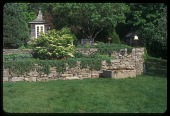 view [Berg Gardens]: the chinoiserie-style folly was sited beyond drystone walls. digital asset: [Berg Gardens]: the chinoiserie-style folly was sited beyond drystone walls.: 2009 Jun.