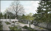 view [Halbach Garden No. 1]: view before terrace and brick walls were constructed. digital asset: [Halbach Garden No. 1] [lantern slide] view before terrace and brick walls were constructed.
