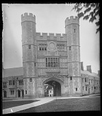 view [Princeton University]: north face of Blair Arch with Buyers Hall and Blair Hall dormitories abutting. digital asset: [Princeton University] [glass negative]: north face of Blair Arch with Buyers Hall and Blair Hall dormitories abutting.