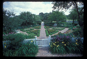 view [Straus Garden]: formal garden seen from back of house. digital asset: [Straus Garden]: formal garden seen from back of house.: 1978 Jul.