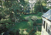 view [Thomas Garden, The]: view from second floor of patio, terrace, back lawn, and corner of formal garden. digital asset: [Thomas Garden, The]: view from second floor of patio, terrace, back lawn, and corner of formal garden.: 2000 Jun.