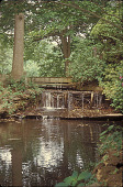 view [Stillwater]: wooded waterfall with bridge. digital asset: [Stillwater]: wooded waterfall with bridge.: 2002 May.
