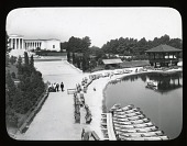 view Albright-Knox Art Gallery digital asset: Albright-Knox Art Gallery [slide]: Hoyt Lake in the foreground.