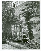 view [Unidentified Garden in New York, New York, No. 2]: wall fountain. digital asset: [Unidentified Garden in New York, New York, No. 2] [photonegative and photoprint]: wall fountain.
