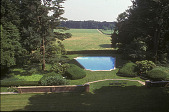 view [Erchless]: decorative pool surrounded by grass; meadow beyond pool ends in line of trees. digital asset: [Erchless]: decorative pool surrounded by grass; meadow beyond pool ends in line of trees.: 2003 Aug.