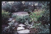 view [Oregon Dental Association]: stone walkway and pond. digital asset: [Oregon Dental Association]: stone walkway and pond.: 1997.