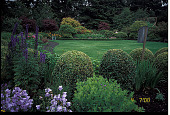 "view [Blessings]: overview of the ""formal garden"" facing west. digital asset: [Blessings]: overview of the ""formal garden"" facing west.: 2000 Jul."