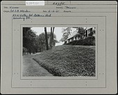 view [Warden Garden]: house on Valley Road in the Bellevue Park area of Harrisburg, Pennsylvania, former home of Colonel John B. Warden, with Vinca minor in the foreground. digital asset: [Warden Garden] [photographic print]: house on Valley Road in the Bellevue Park area of Harrisburg, Pennsylvania, former home of Colonel John B. Warden, with Vinca minor in the foreground.