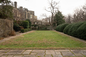 view [Druim Moir]: View of Bowling Green bordered by flagstone walkways and Japanese holly hedge. digital asset: [Druim Moir]: View of Bowling Green bordered by flagstone walkways and Japanese holly hedge.: 2018 December 12