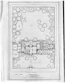 view [Briggs Garden]: photograph of the general plan of the house and grounds. digital asset: [Briggs Garden] [glass negative]: photograph of the general plan of the house and grounds.